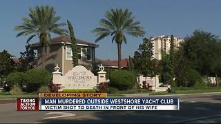 Man murdered outside Westshore Yacht Club - Video