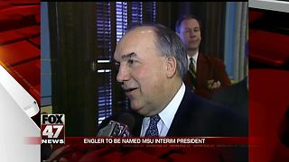 Ex.-Gov. Engler to be named interim president - Video