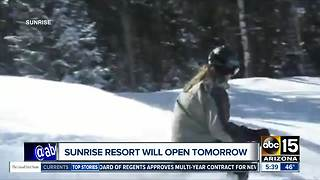 Open or closed? Mixed messages from Sunrise Ski Park Resort - Video