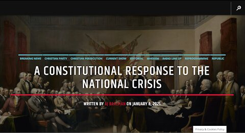 A Constitutional Response To The National Crisis