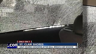 Golf ball strikes SUV with kids inside, shattering window in St. Clair Shores