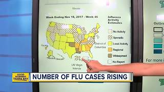 Number of flu cases rising across U.S.