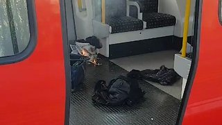 Flames Seen on London Tube Train After Explosion Reported - Video