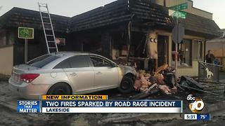 Two fires sparked by road rage incident - Video