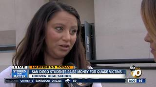 San Diego students raise money for quake victims - Video