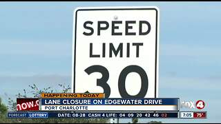 Single lane closure in Port Charlotte for maintence - Video