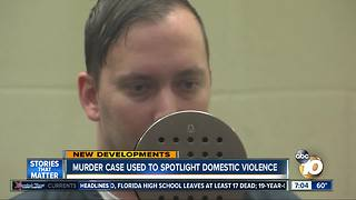 Murder case used to spotlight domestic violence - Video