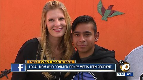 Mom who donated kidney meets recipient