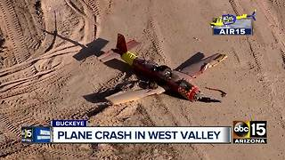 2 hurt after plane goes down in West Valley - Video