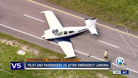 Pilot and passengers okay after emergency landing in Martin County