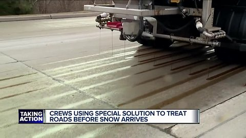 Farmington Hills road crews use salt brine and beet juice to help fight snow and ice