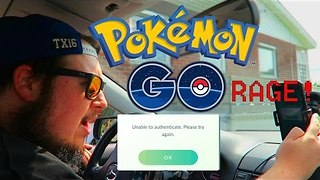 Man Rages Over Pokemon Go Server Issues - Video