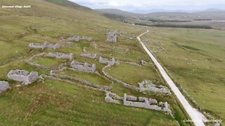 Drone footage captures ancient deserted village in Ireland