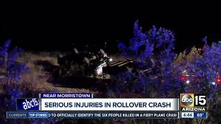 SR74 reopens after rollover crash near Morristown - Video