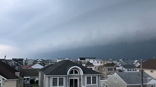 Lightning Flashes as Storm Looms Over Southern Jersey Shore