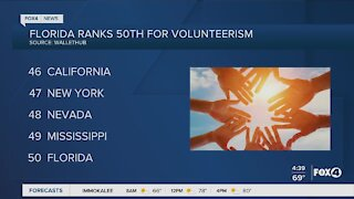Florida ranked last for volunteerism
