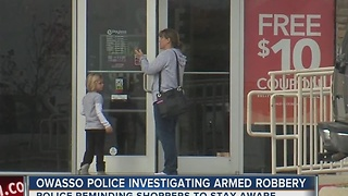 Owasso Police Investigating Armed Robbery - Video