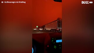Oregon wildfires turn the sky red