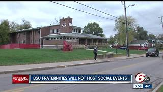 All 13 fraternities at Ball State University agree to not hold social events until January 31 - Video