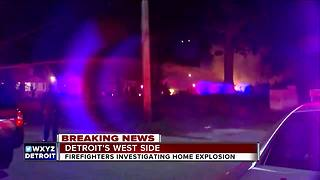 Firefighters investigating explosion on Detroit's west side - Video