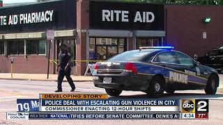 Baltimore police deal with escalating gun violence in city - Video