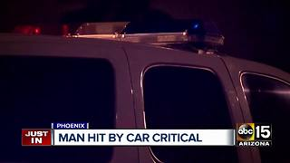 Pedestrian hospitalized after being struck by a car in Phoenix
