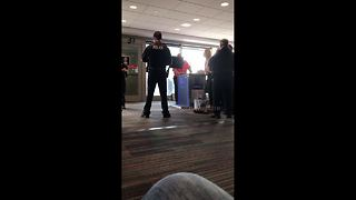 Woman repeatedly yells 'I didn't slap him' after being removed from plane - Video