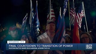 Final countdown to transition of power