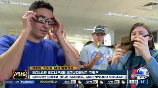 High schoolers among crowds heading to Wyoming for solar eclipse - Video