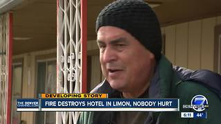Massive fire destroys Limon hotel overnight; 7 people evacuated - Video