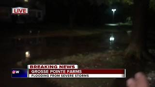 Grosse Pointe Farms severe flooding
