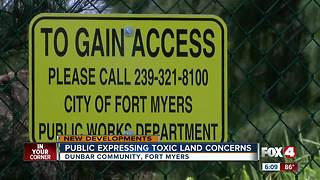 Dunbar residents express concern over possible toxic land - Video