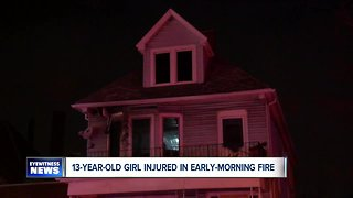 13-year-old girl rescued from burning home