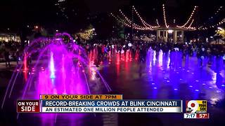 Record-breaking crowds at Blink Cincinnati - Video