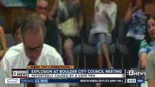Video shows a woman's purse catching fire at city council meeting in Boulder City - Video