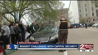 OHP talks security during teacher walkout - Video
