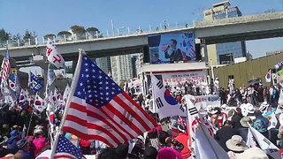Rally Held in Seoul to Protest Talks With North Korea - Video