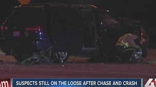 2 hurt in crash after police pursuit - Video