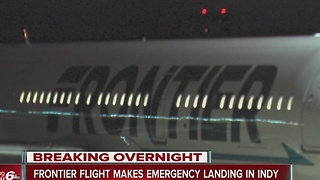 Frontier flight diverts to Indianapolis after fuel issue - Video