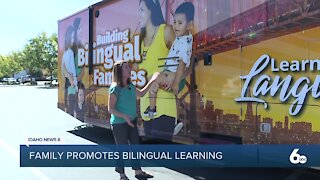 Family travels across country promoting dual language education