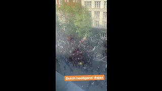 Ajax Fans Gather in London Ahead of Game Against Spurs