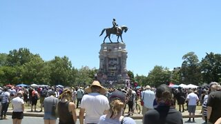 Thousands Protest At Robert E. Lee Statue In Richmond, Virginia