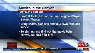 Movies in the Canyon showing near Frazier Park - Video