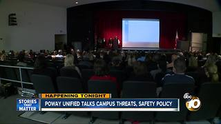 Poway Unified talks campus threats, safety policy - Video