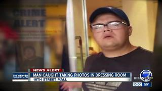 Denver police seek suspect caught taking dressing room photos in 16th St. Mall store - Video