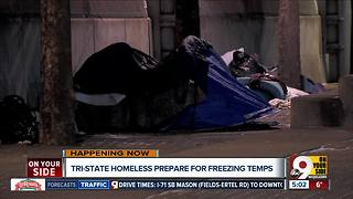 Tri-State homeless prepare for freezing temperatures - Video