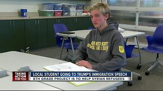 Eighth grader working to help Syrian refugees - Video