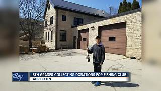 Student collects fishing gear for club - Video