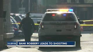 Officer shoots bank robbery suspect near the 16th Street Mall in downtown Denver - Video