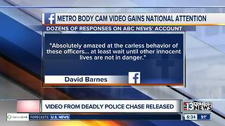 Social media commenting on wild police chase video - Video